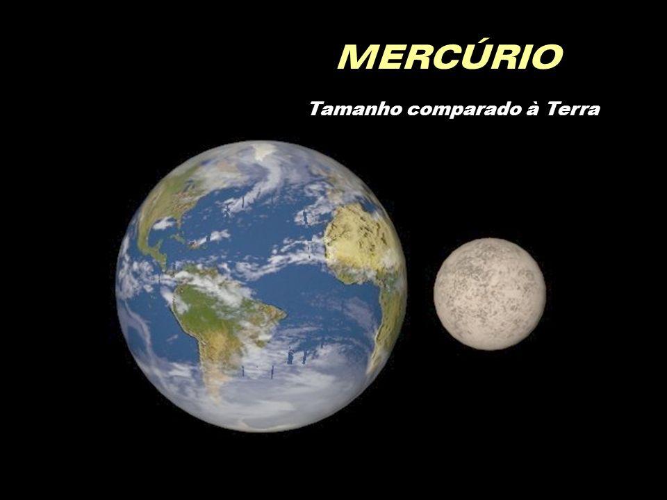 MERCÚRIO Tamanho comparado à Terra
