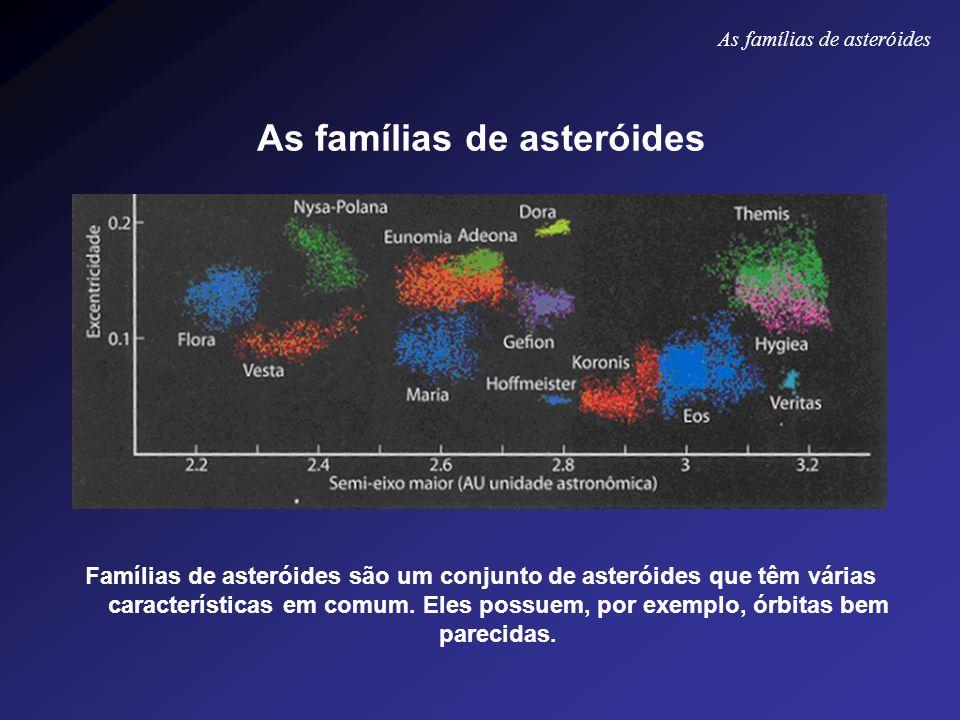 As famílias de asteróides