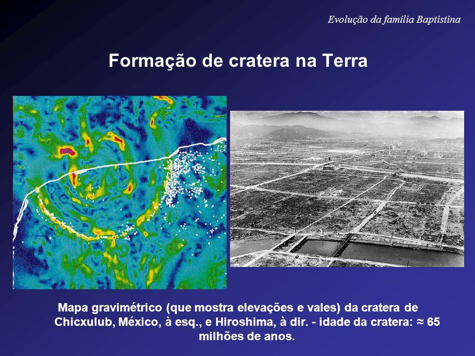 Formação de cratera na Terra