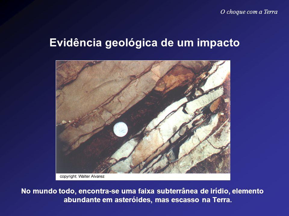 Evidência geológica de um impacto