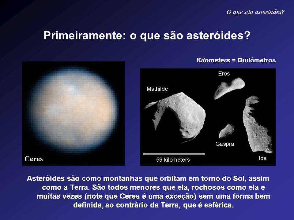 Primeiramente: o que são asteróides