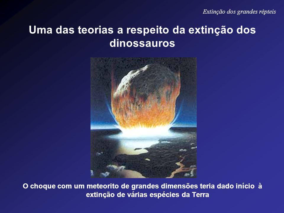 Uma das teorias a respeito da extinção dos dinossauros