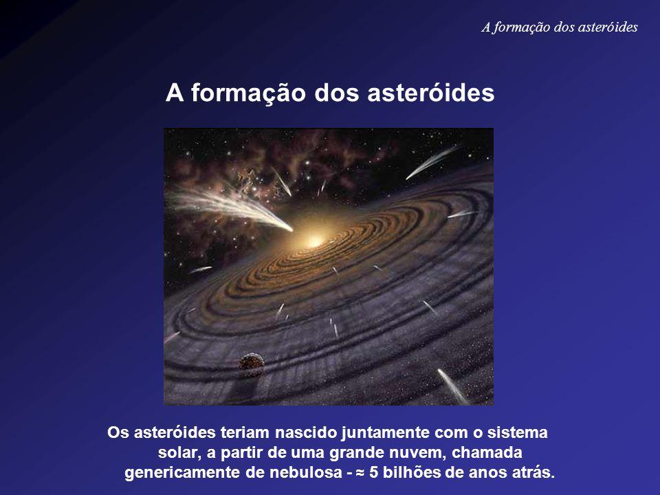 A formação dos asteróides