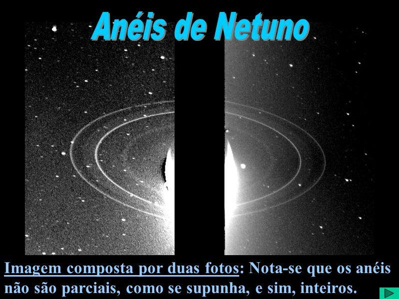 Anéis de NetunoImagem composta por duas fotos: Nota-se que os anéis não são parciais, como se supunha, e sim, inteiros.