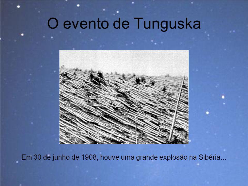 Em 30 de junho de 1908, houve uma grande explosão na Sibéria...