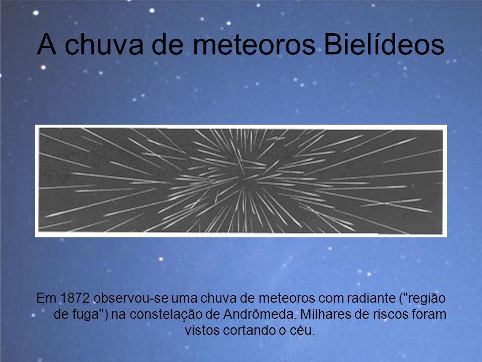 A chuva de meteoros Bielídeos