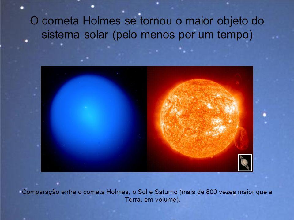 O cometa Holmes se tornou o maior objeto do sistema solar (pelo menos por um tempo)