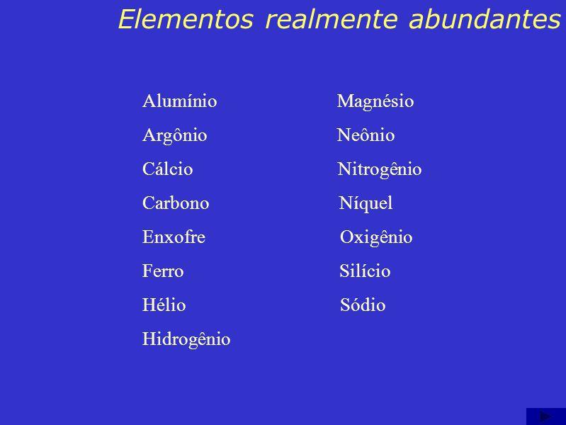 Elementos realmente abundantes