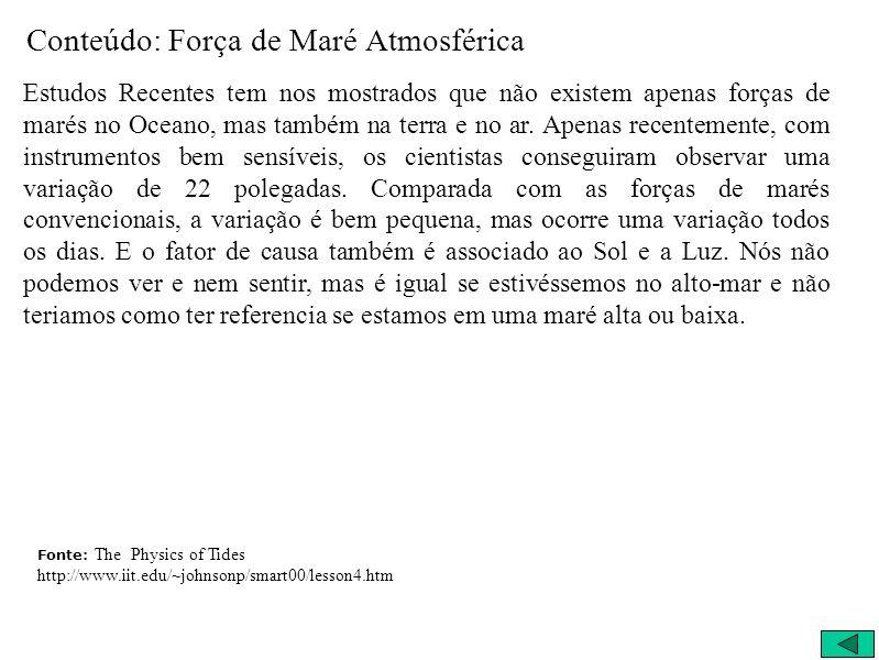 Conteúdo: Força de Maré Atmosférica