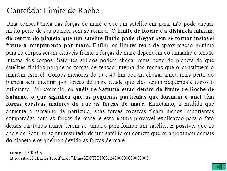 Conteúdo: Limite de Roche