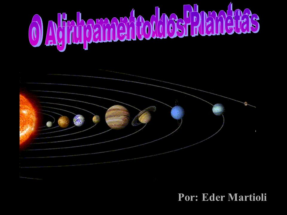 O alinhamento dos Planetas O Agrupamento dos Planetas