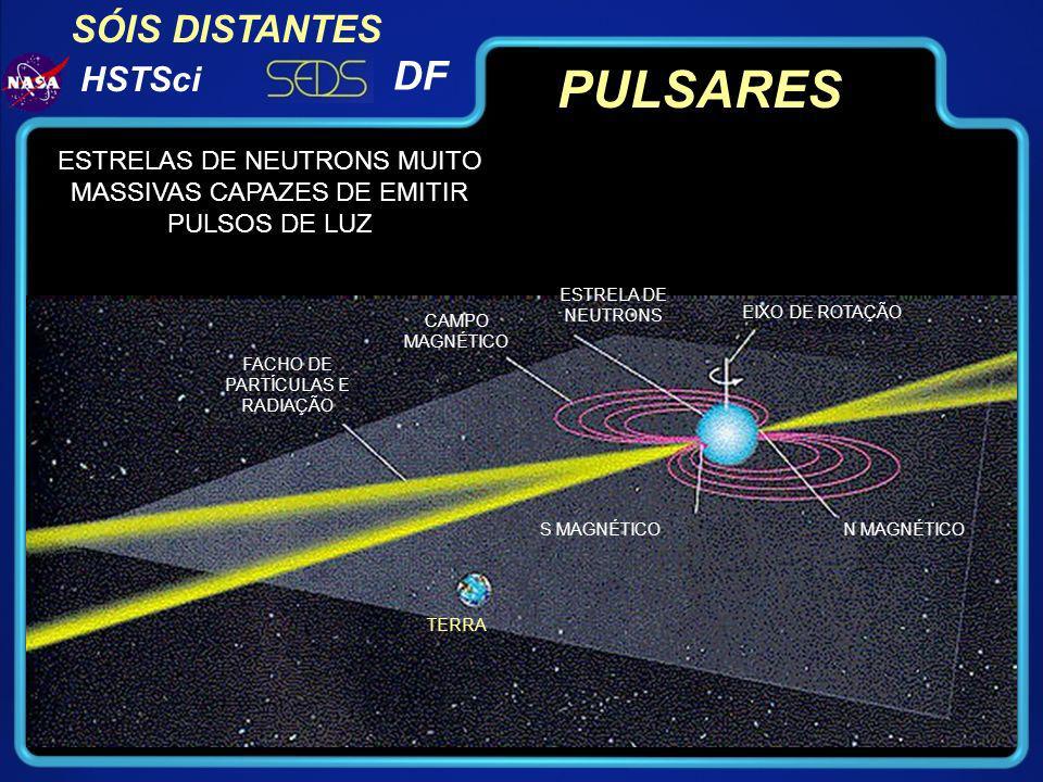 PULSARES ESTRELAS DE NEUTRONS MUITO MASSIVAS CAPAZES DE EMITIR PULSOS DE LUZ. ESTRELA DE NEUTRONS.