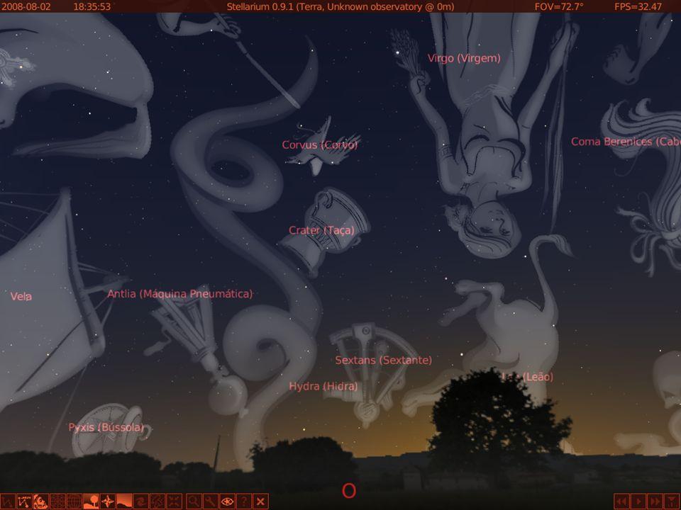 Marte Saturno e Marte no céu à Oeste: Data 02/08/2008 – Horário 18:35 Hs; Saturno