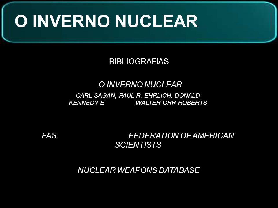 O INVERNO NUCLEAR BIBLIOGRAFIAS O INVERNO NUCLEAR