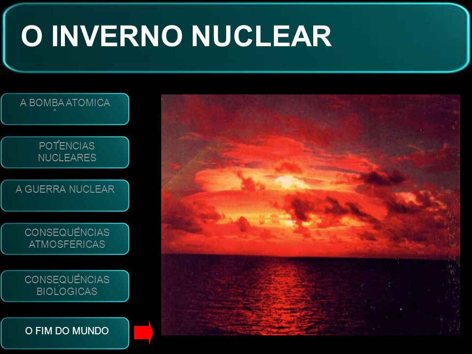O INVERNO NUCLEAR A BOMBA ATOMICA POTENCIAS NUCLEARES A GUERRA NUCLEAR