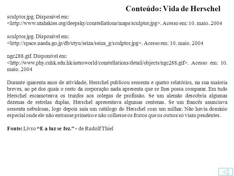 Conteúdo: Vida de Herschel