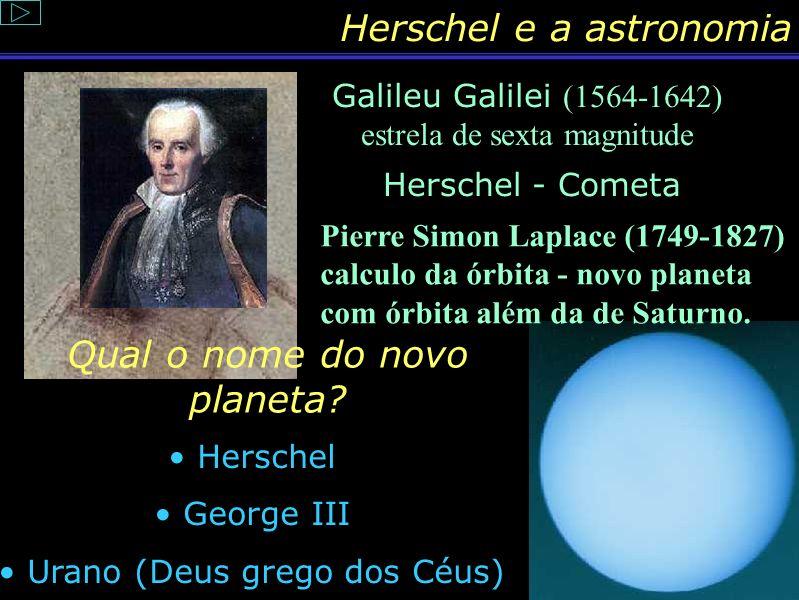 Herschel e a astronomia