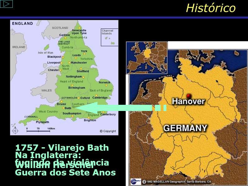 Histórico Friedrich Wilhelm Herschel nasceu em Hanover, em 1738