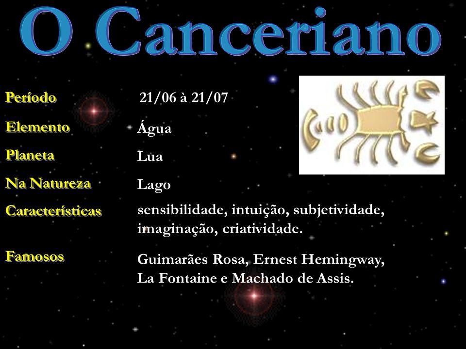 O Canceriano Período 21/06 à 21/07 Elemento Planeta Na Natureza