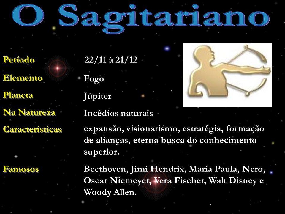 O Sagitariano Período 22/11 à 21/12 Elemento Planeta Na Natureza