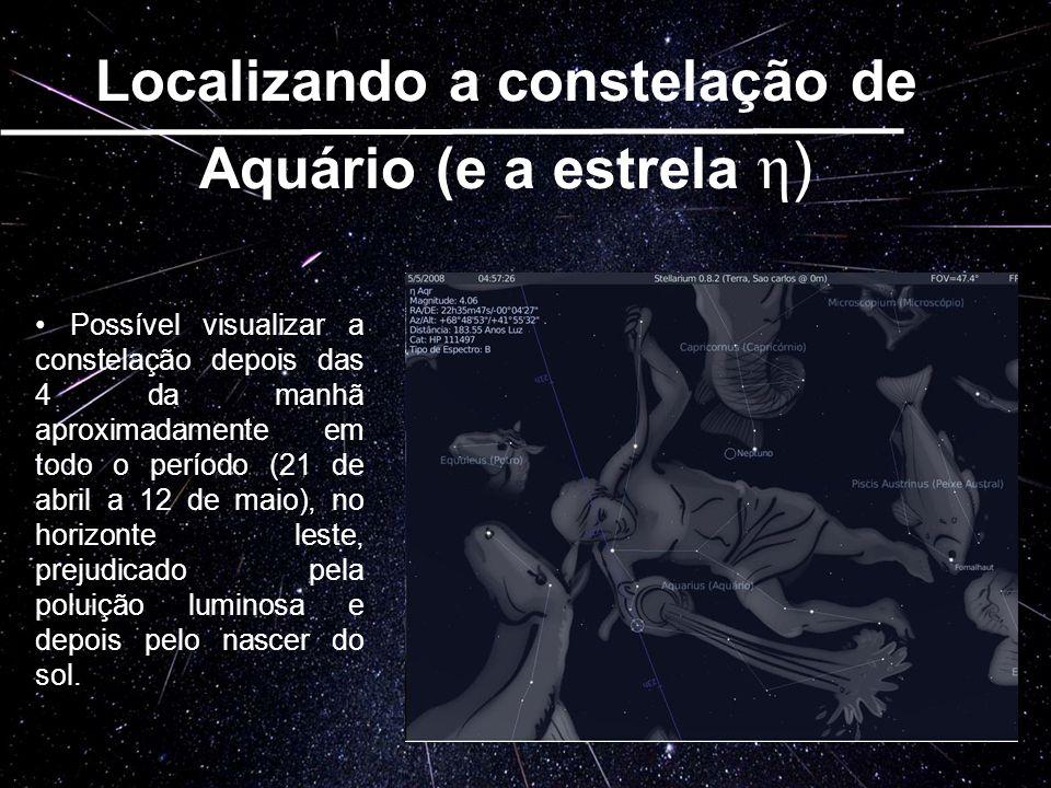 Localizando a constelação de Aquário (e a estrela η)