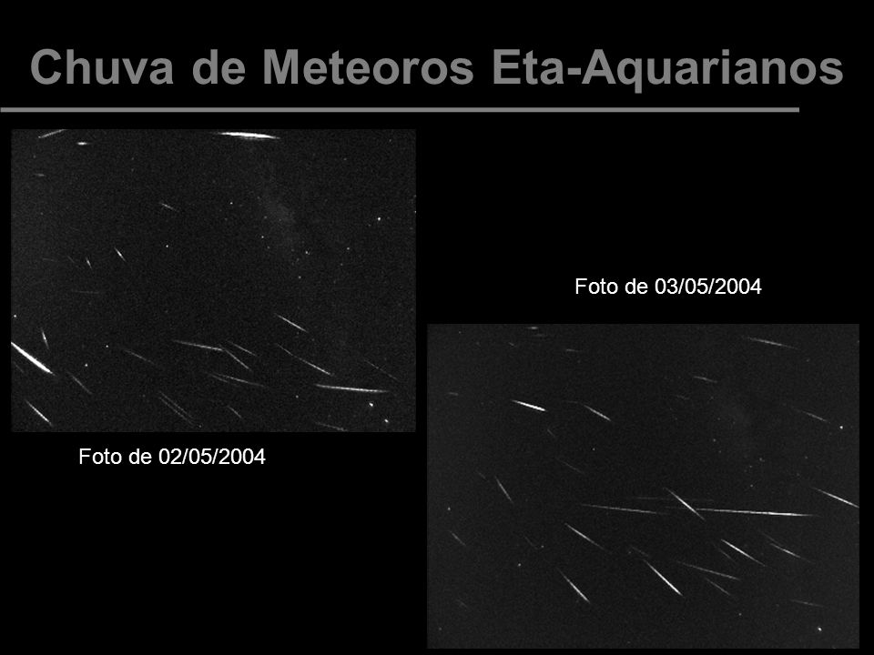 Chuva de Meteoros Eta-Aquarianos