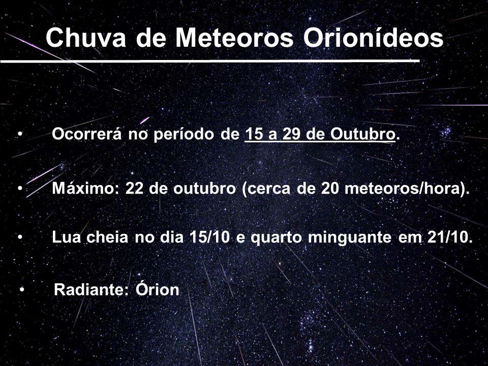 Chuva de Meteoros Orionídeos