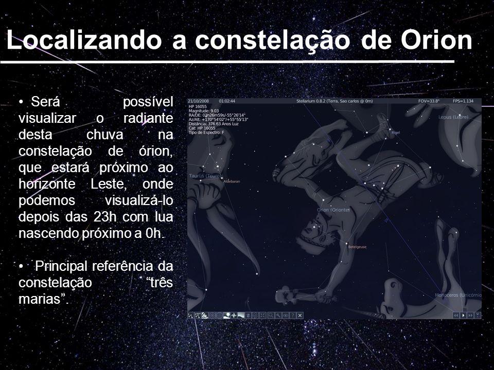 Localizando a constelação de Orion
