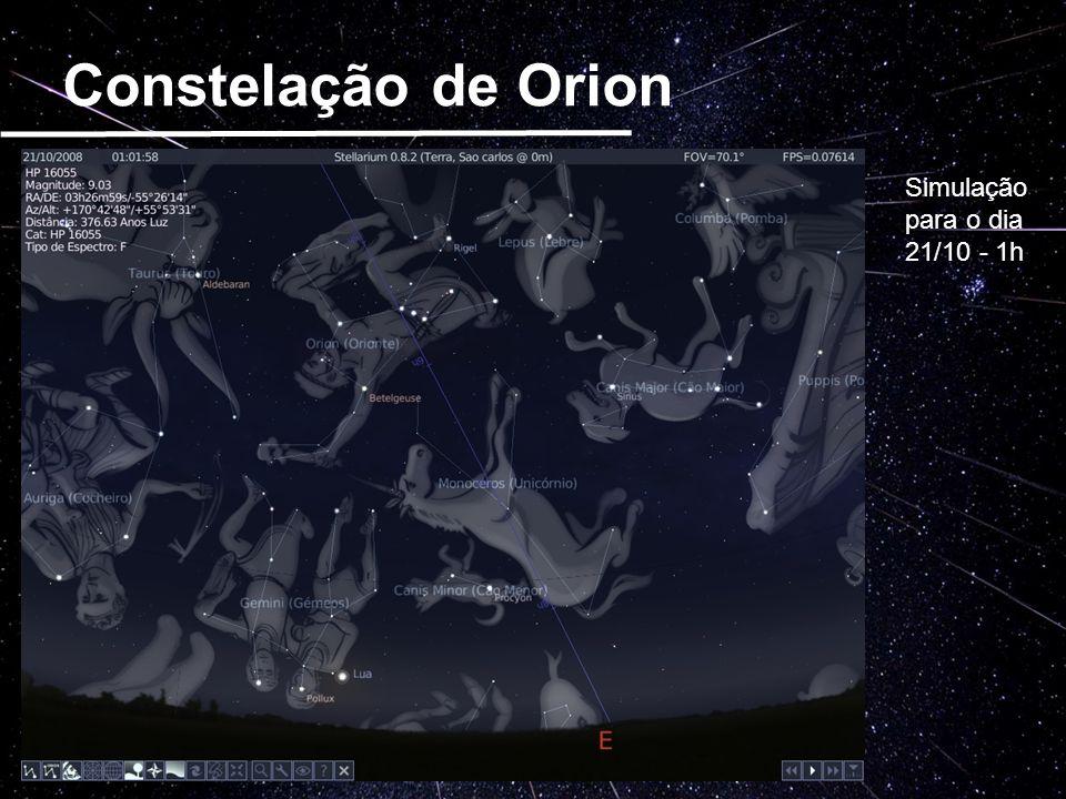 Constelação de Orion Simulação para o dia 21/10 - 1h