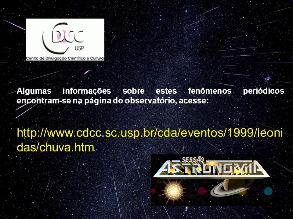 Algumas informações sobre estes fenômenos periódicos encontram-se na página do observatório, acesse: