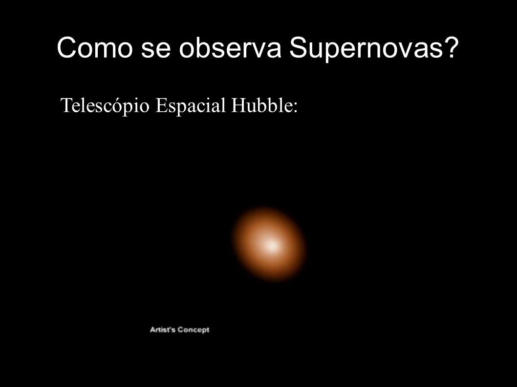 Como se observa Supernovas