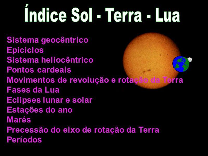 Índice Sol - Terra - Lua Sistema geocêntrico Epiciclos