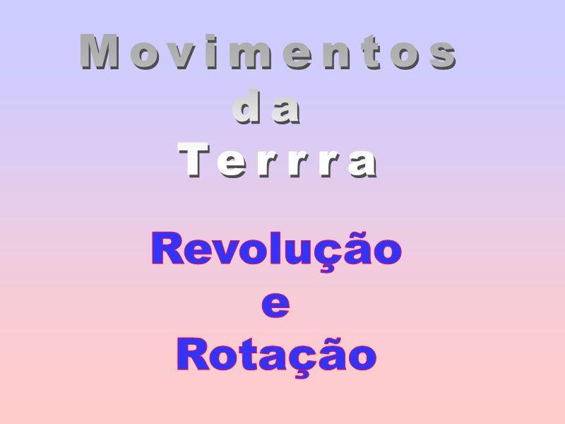 Movimentos da Terrra Revolução e Rotação