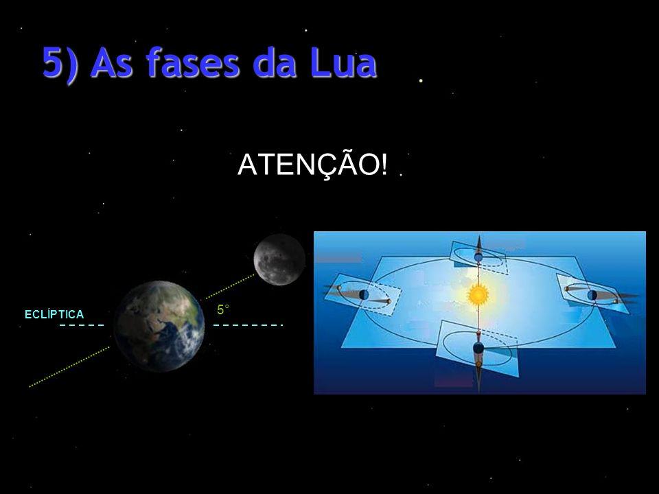 5) As fases da Lua ATENÇÃO! 5° ECLÍPTICA