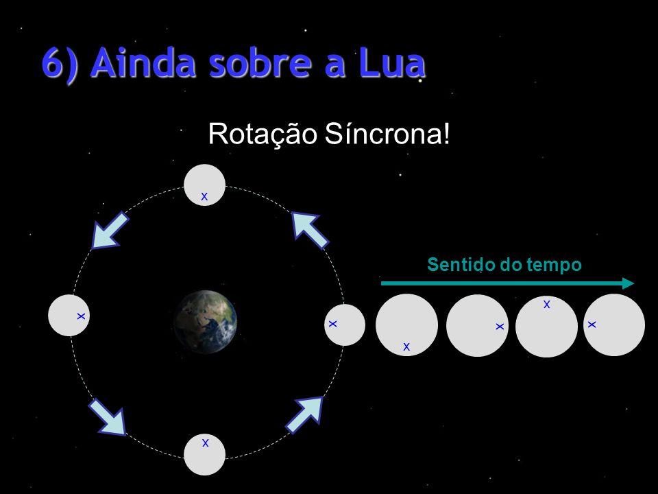 6) Ainda sobre a Lua Rotação Síncrona! Sentido do tempo x x x x x x x