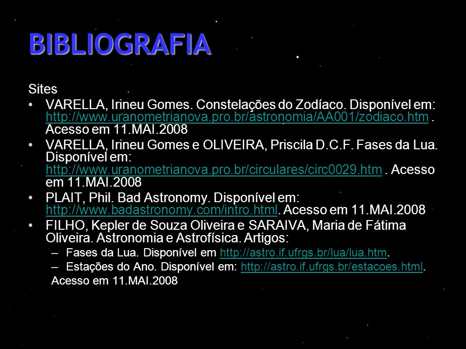 BIBLIOGRAFIA Sites.