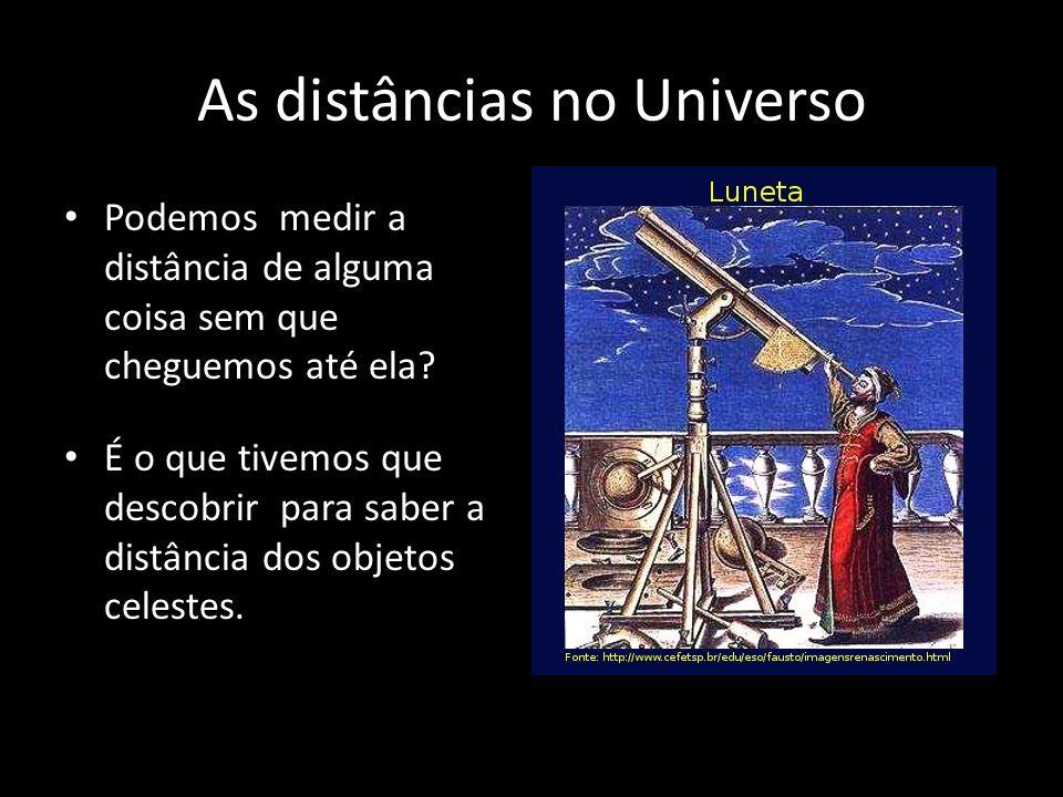 As distâncias no Universo
