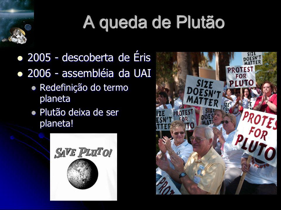 A queda de Plutão 2005 - descoberta de Éris 2006 - assembléia da UAI