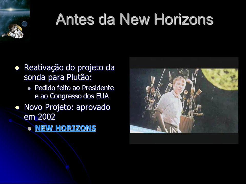 Antes da New Horizons Reativação do projeto da sonda para Plutão: