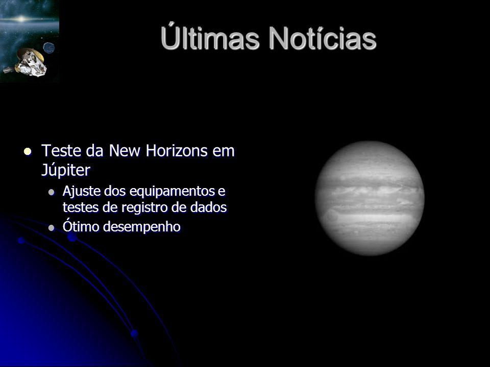 Últimas Notícias Teste da New Horizons em Júpiter