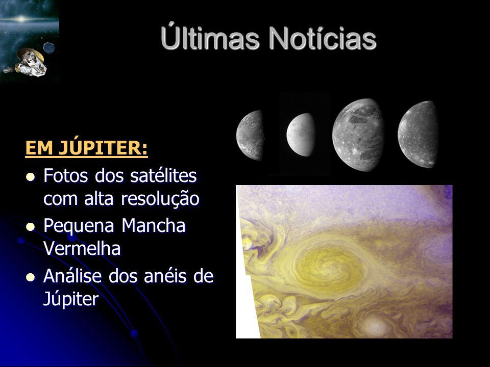 Últimas Notícias EM JÚPITER: Fotos dos satélites com alta resolução