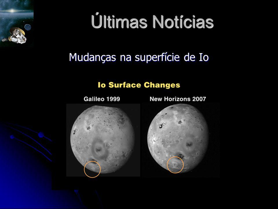Mudanças na superfície de Io