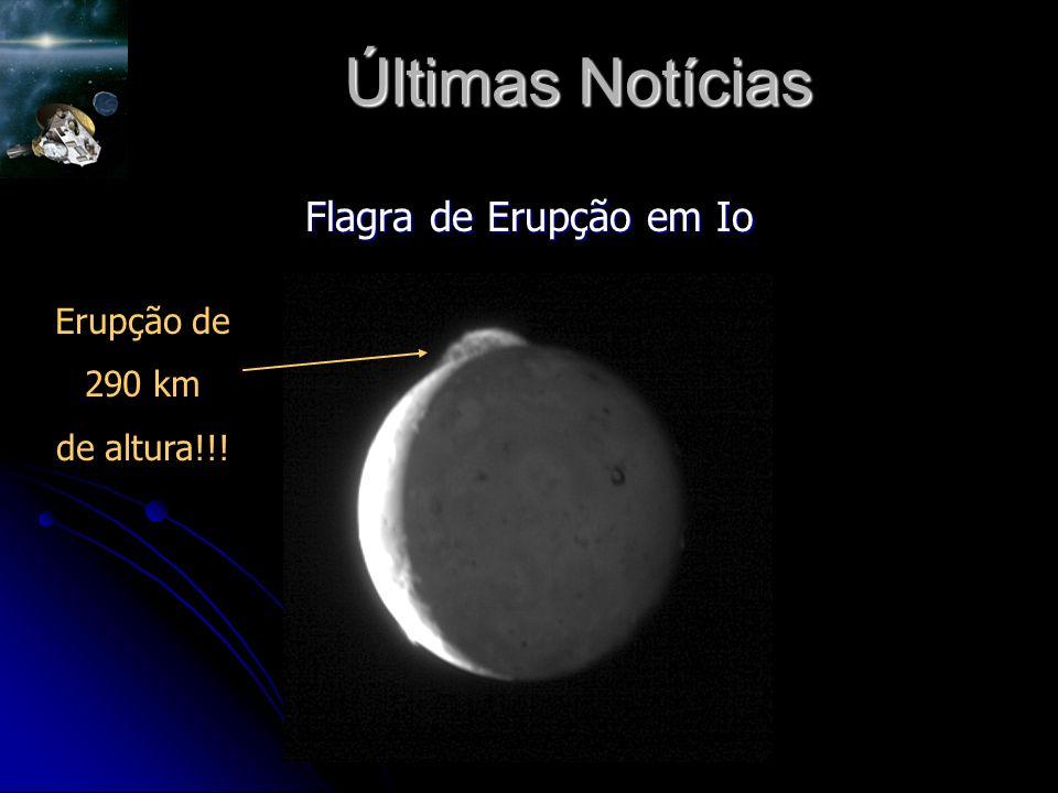 Últimas Notícias Flagra de Erupção em Io Erupção de 290 km