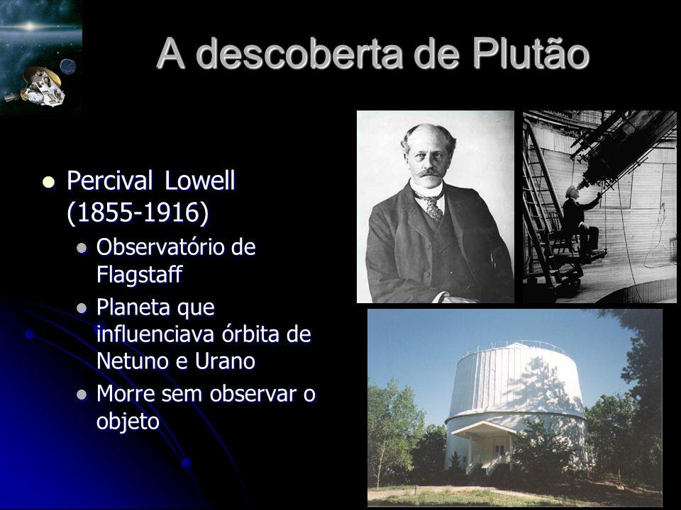 A descoberta de Plutão Percival Lowell (1855-1916)