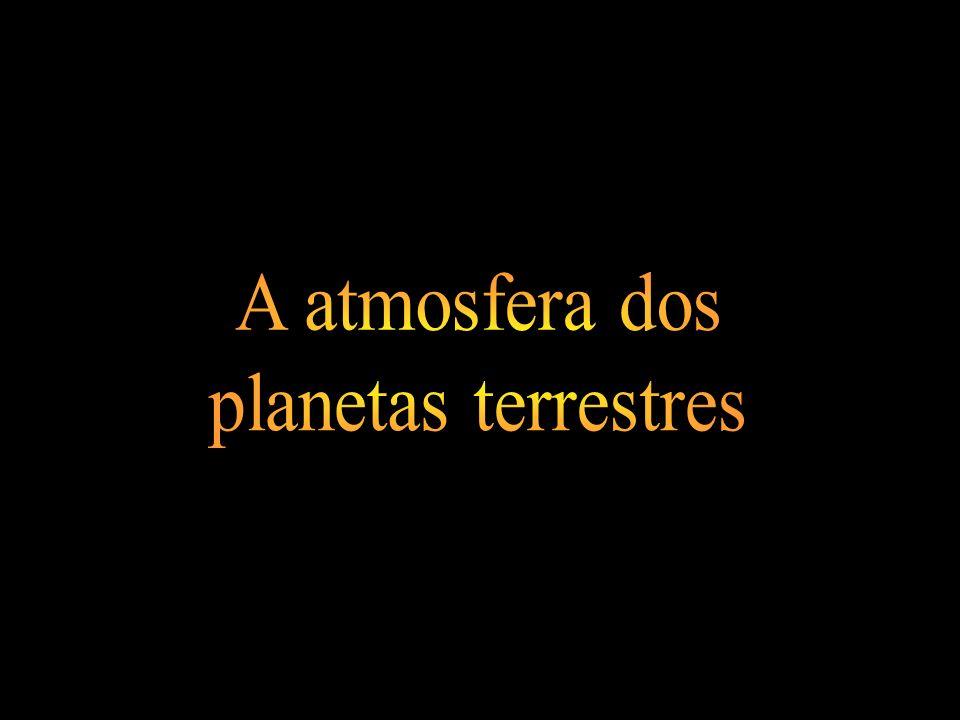 A atmosfera dos planetas terrestres