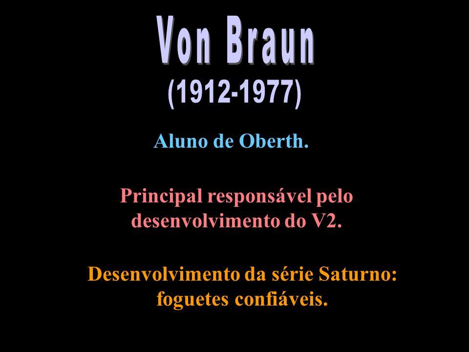 Von Braun (1912-1977) Aluno de Oberth.
