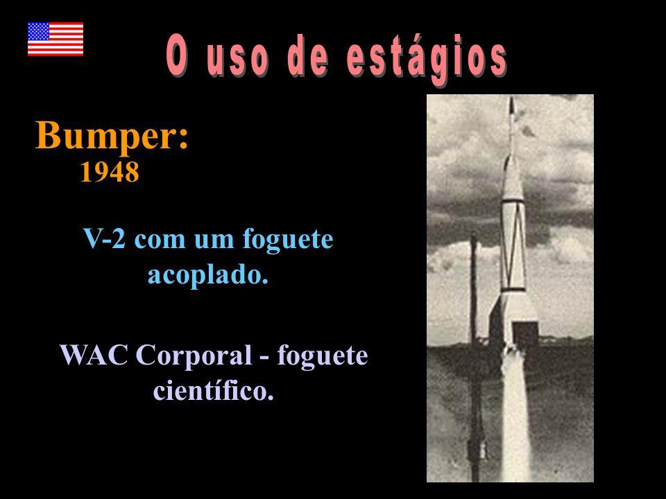 V-2 com um foguete acoplado. WAC Corporal - foguete científico.