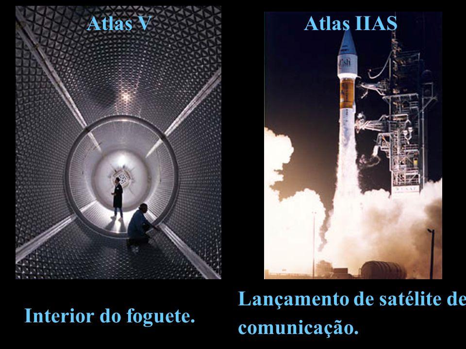 Atlas V Atlas IIAS Lançamento de satélite de Interior do foguete. comunicação.