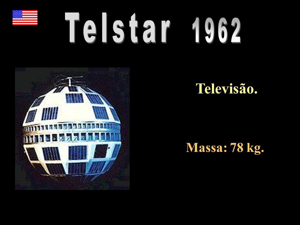 Telstar 1962 Televisão. Massa: 78 kg.