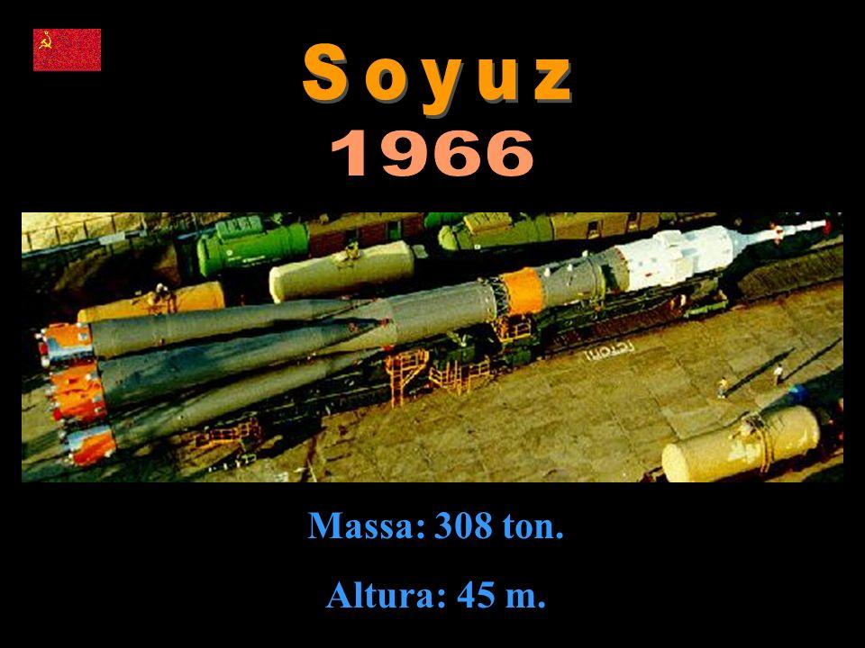 Soyuz 1966 Massa: 308 ton. Altura: 45 m.